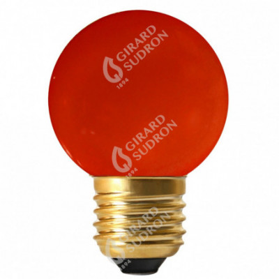 Spherical LED 1W E27 30Lm red