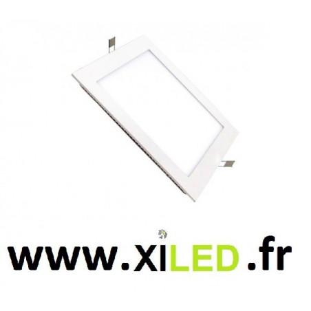 Spot Encastrable led 15w-1000 lumens carré cadre couleur blanc ip20
