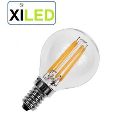 ampoule filament led petit culot e14 visser blanc chaud 2700k 4w-40w