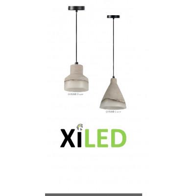 SUSPENSION moderne art deco effet béton lustre plafonnier led 130 lumens
