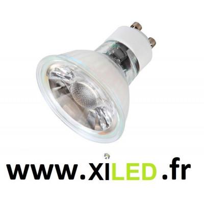 Ampoule spot gu10 7w led effet verre
