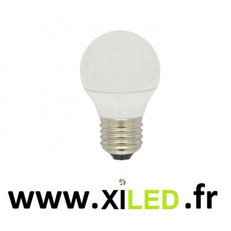 AMPOULE LED 5W E27 BOULE OPAQUE 45mm guinguette