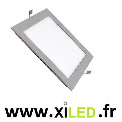 Spot Encastrable 15w LED carré gris alu-6000k