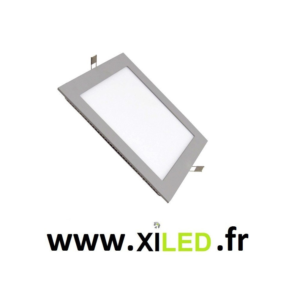 Spot Encastrable 15w LED carré couleur gris 6000k