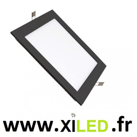 Spot Encastrable 15w LED carré noir-6000k