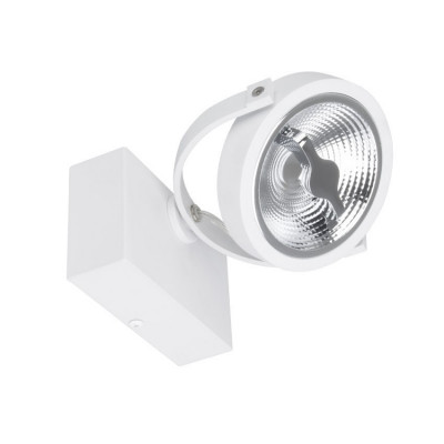 plafonnier blanc applique led orientable variable angle 24°-800 lumens-3000k-4000k-6000k