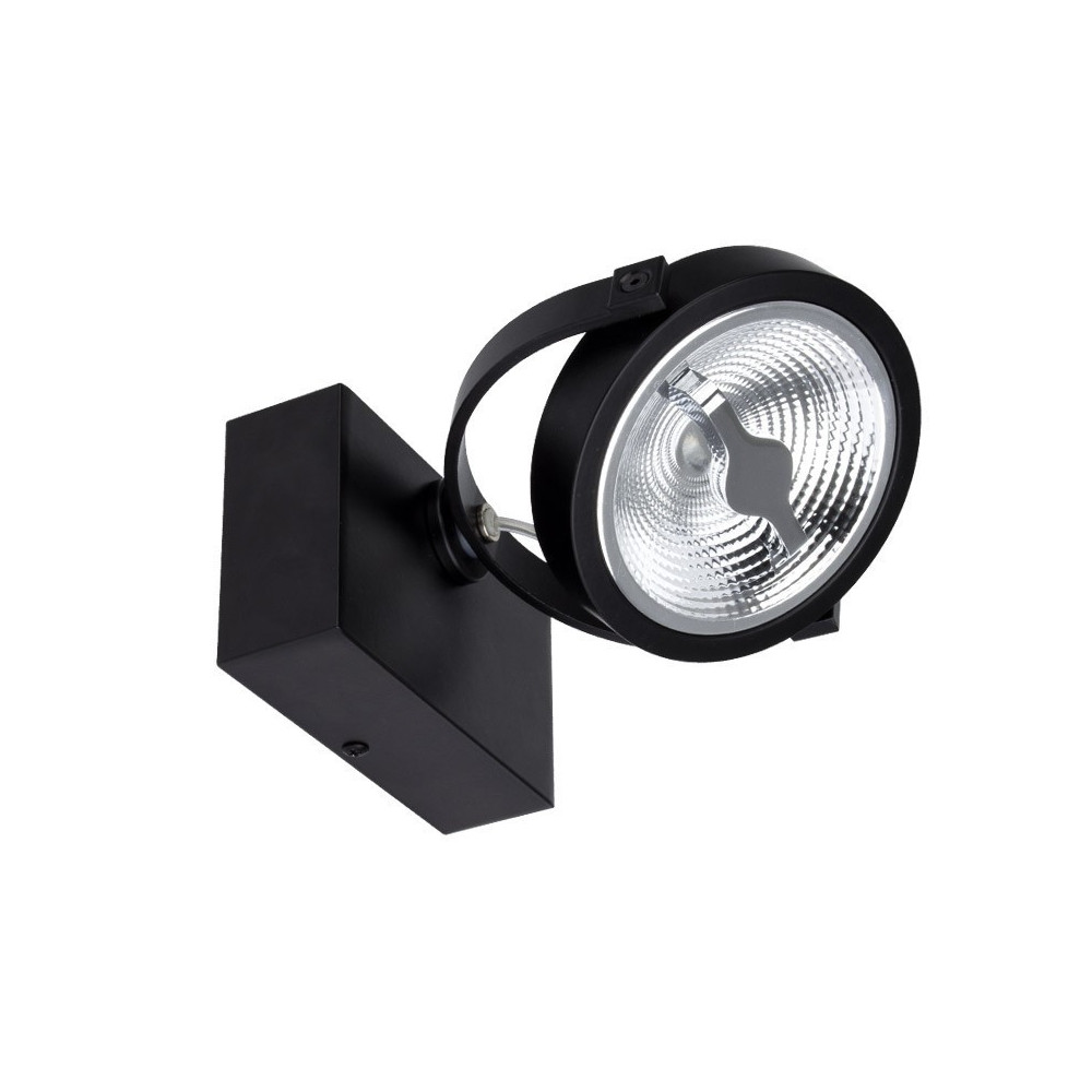 plafonnier noir applique led orientable variable angle 24°-800 lumens-3000k-4000k-6000k