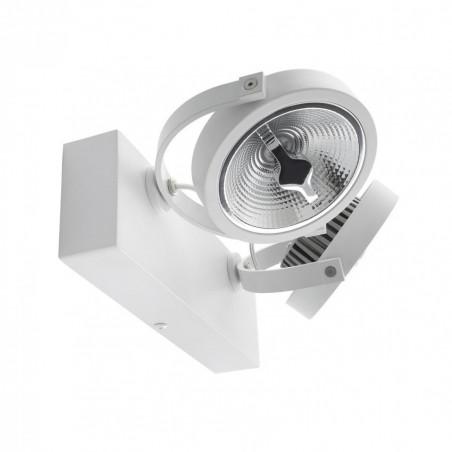 plafonnier blanc applique led double orientable variable angle 24°-1600 lumens-3000k-4000k-6000k