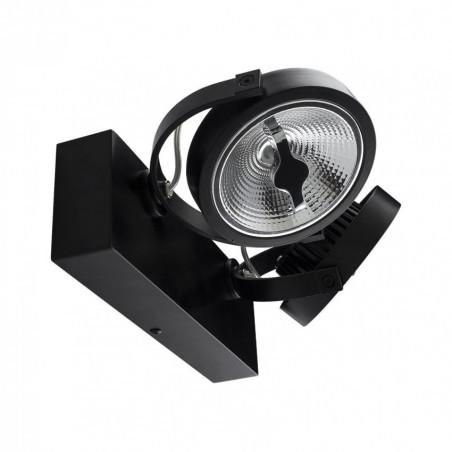 plafonnier noir applique led double orientable variable angle 24°-1600 lumens-3000k-4000k-6000k