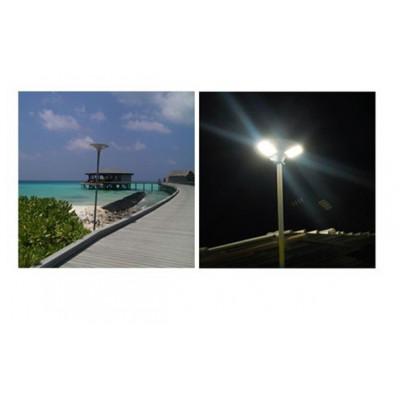 eclairage solaire 9w-montage sur mat 60mm-900 lumens ip65-parking allée jardin