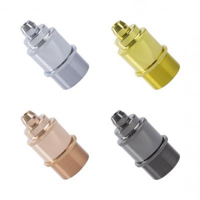 douille e27 couleurs aluminium anodisé serie 2 pour montage cable tissu