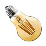 ampoule led filament culot e27 verre doré-forme standart halogene 60w-550 lumens-dimmable