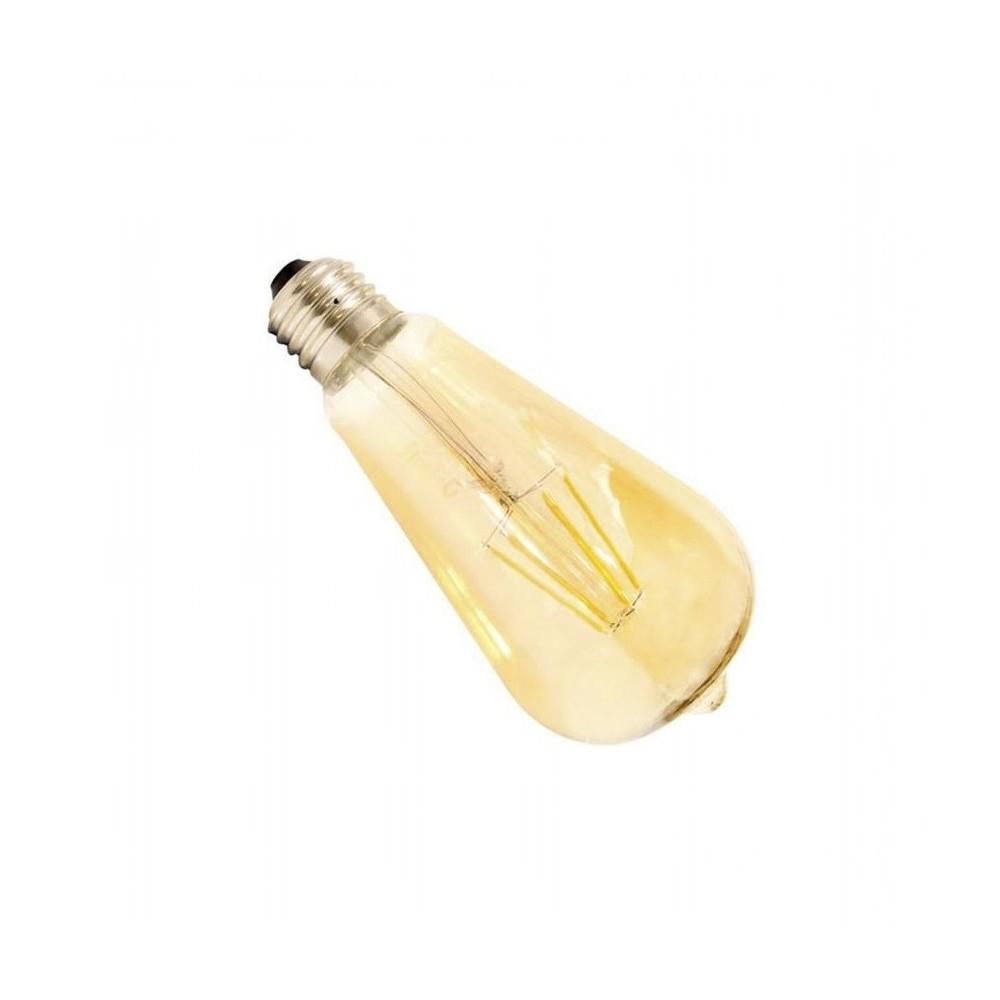 ampoule led filament dimmable culot e27 verre doré-edison-500 lumens