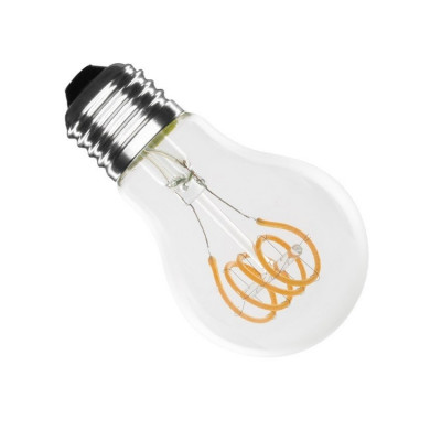 ampoule led filament dimmable culot e27 twist verre clair-forme standart halogene 60w-200 lumens
