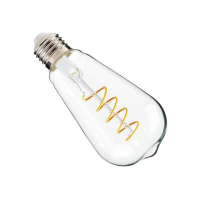 ampoule led filament dimmable culot e27 twist verre clair-edison-200 lumens