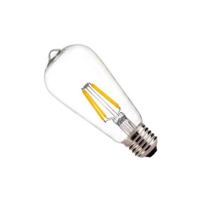 ampoule led filament dimmable culot e27 verre clair-edison-500 lumens-2200k
