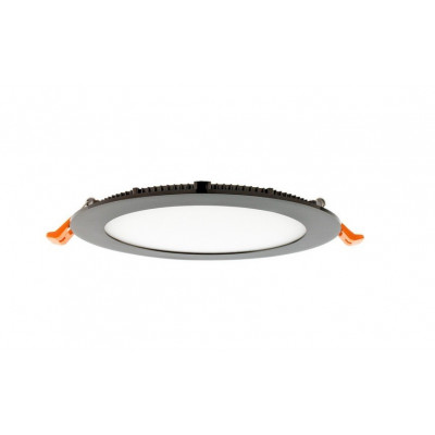 downlight rond Spot Encastrable led 12w-900 lumens noir brillant extra plat