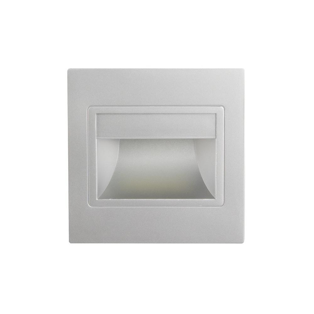 Spot de balisage à 1.5w LED d'escalier mur encastrable gris