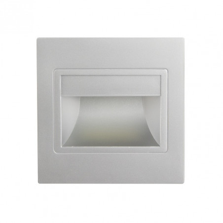 Spot de balisage encastrable 1.5w LED d'escalier mur couloir corridor gris
