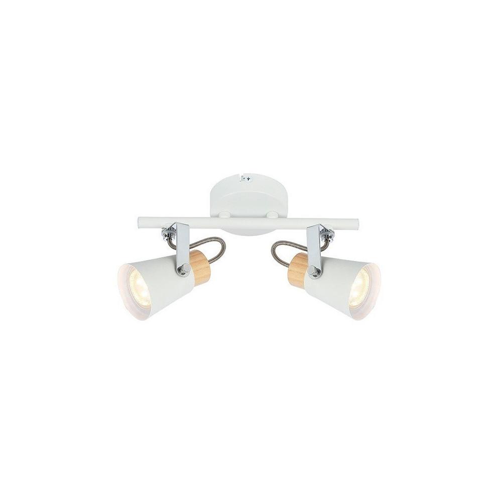 Blanc Patere Bois Double Mural Spot Orientable Eclairage Gu10 Et Culot De Plafond Applique Ou 0wN8nvm