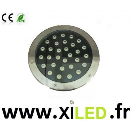 SPOT ENCASTRÉ SOL LED 30W-IP67-12v-24v-220v-BLANC chaud 3000°K-4000k-6000k-rouge-vert-bleu-jaune