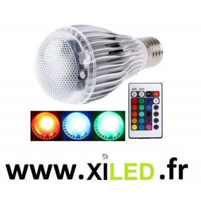 Ampoule Led 9w e27 rgbw + TELECOMMANDE INFRAROUGE
