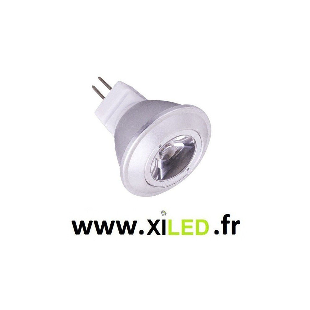 ampoule spot led 12v dc-mr11 culot-2.5w-20w-blanc froid