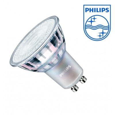 spot gu10 philips-grand angles 120° lumineux remplace 50w halogene