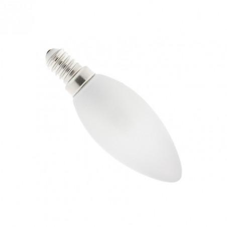ampoule led 4w-forme bougie-360lm-verre opaque blanc laiteux
