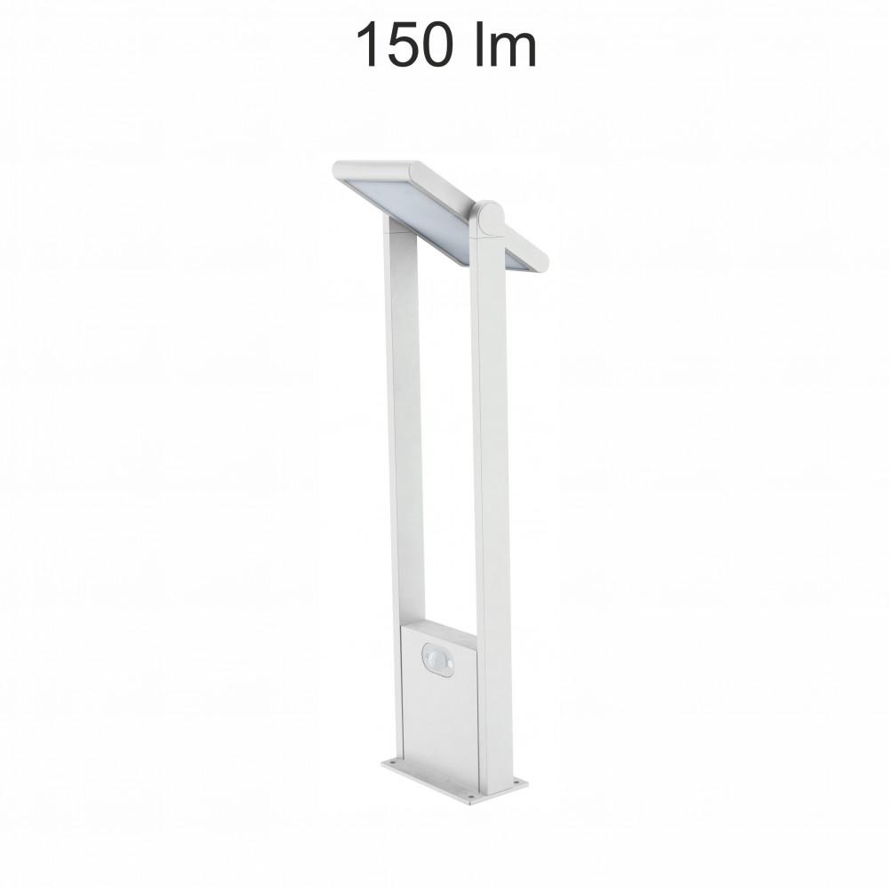 borne led potelet 60cm blanche tete solaire orientable detecteur de mouvement ip54 150lm 4000k. Black Bedroom Furniture Sets. Home Design Ideas