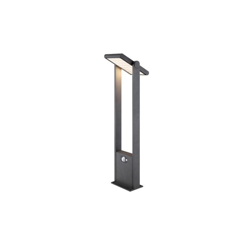borne led potelet 100cm noire tete solaire orientable detecteur de mouvement ip54 150lm 3000k. Black Bedroom Furniture Sets. Home Design Ideas