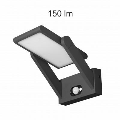 applique solaire noire detecteur de mouvement 150 lumens blanc neutre 4000k