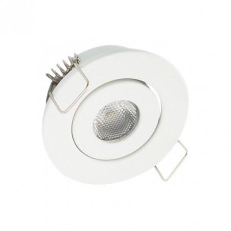 balisage spot downlight led encastrable 1W-niche-mur-plafond-escalier-plinthes deco blanc