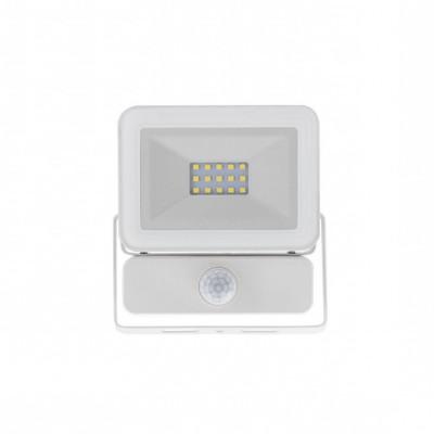 Projecteur à Led 10W detecteur-4000k-blanc-ultra fin-ip65-900lm-etanche exterieur