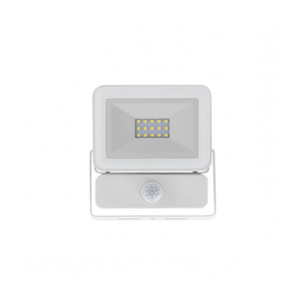 Projecteur a led 20w detecteur 4000k blanc ultra fin ip65 for Eclairage projecteur exterieur