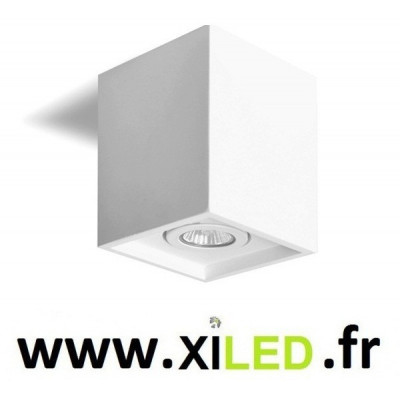PLAFONNIER CARRE APPLIQUE LED 5W BLANCHE JAS