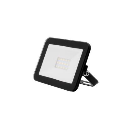 Projecteur à Led 10W ultra plat etanche exterieur noir-120w-1200 lumens