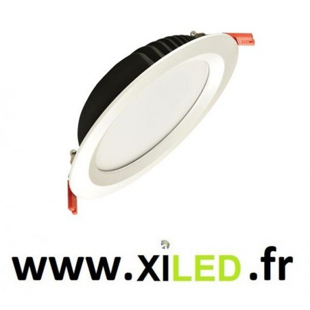spot downlight rond blanc led encastrable 5700 lumens encastré 210mm