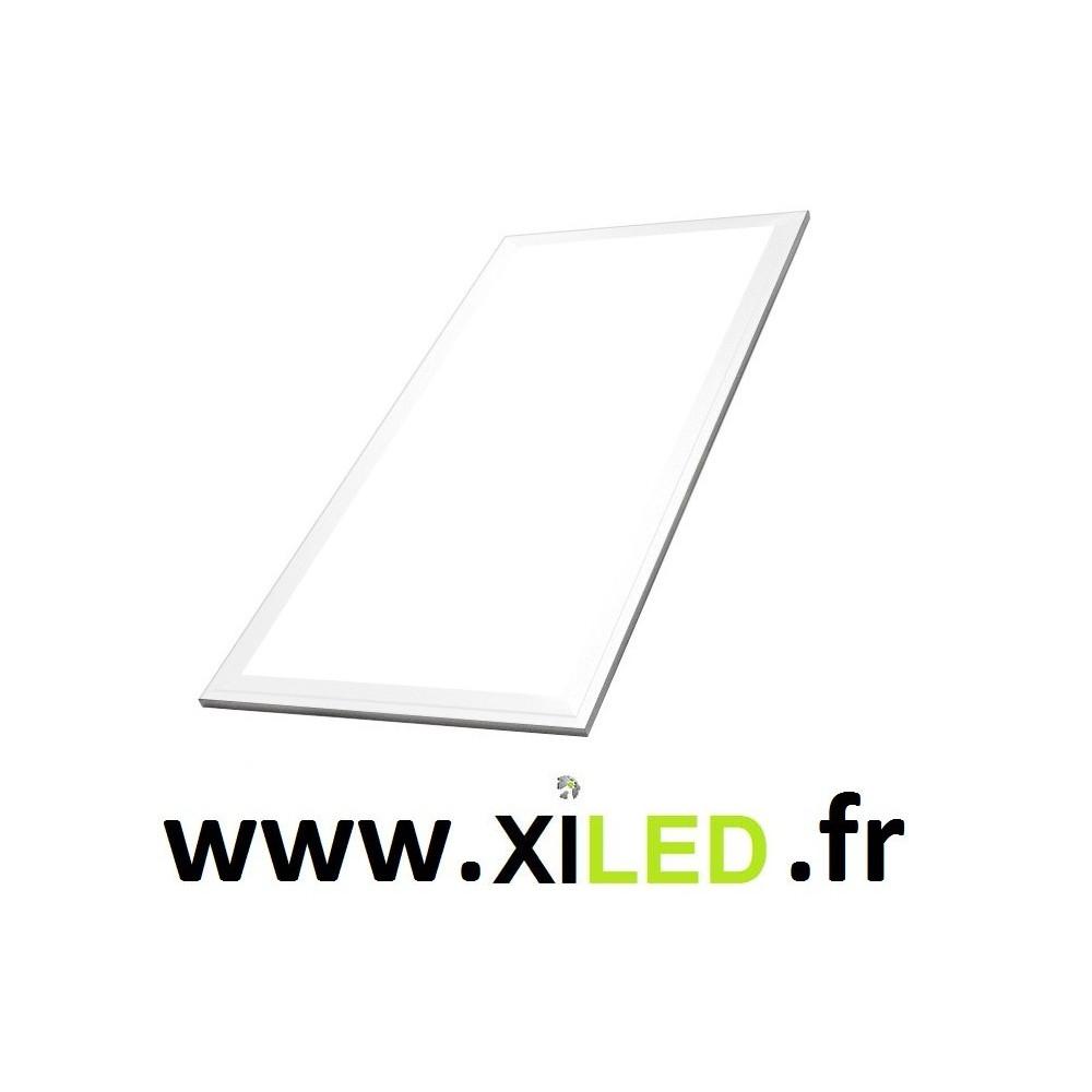 panneau lumineux dalle led 30x60cm cadre aluminium blanc. Black Bedroom Furniture Sets. Home Design Ideas