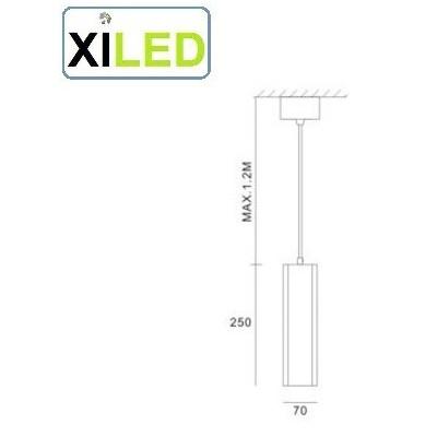 suspension blanche spot gu10 led