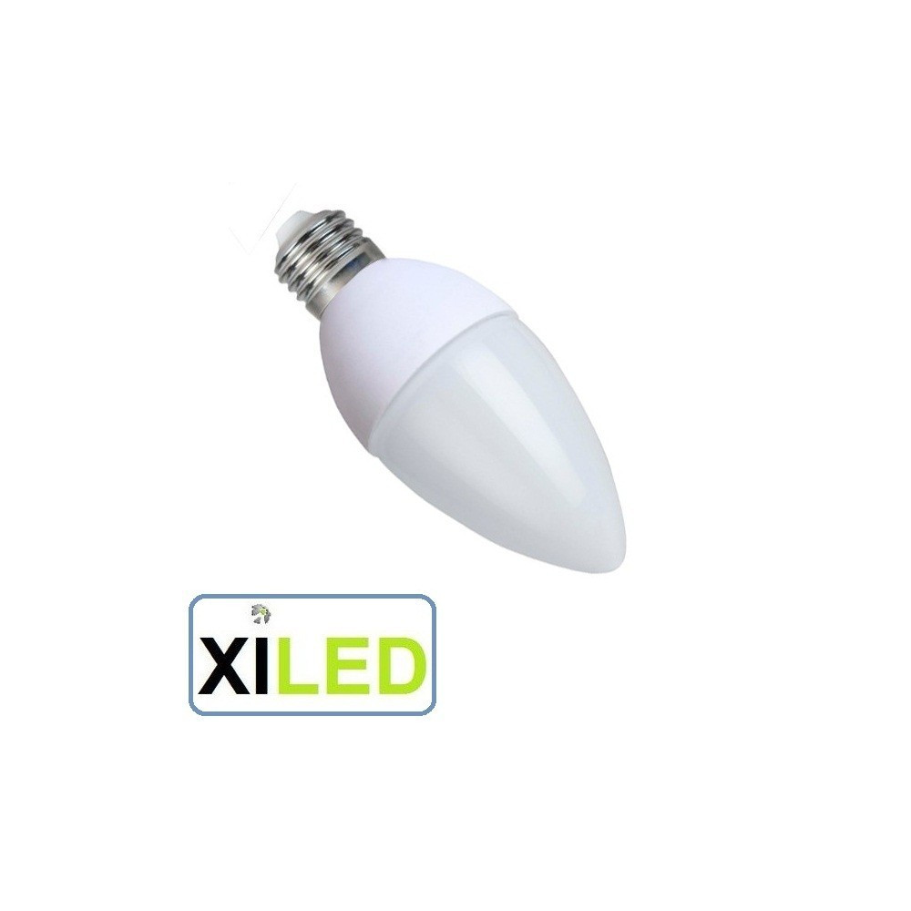 ampoule led culot e27 forme bougie 40w halogene