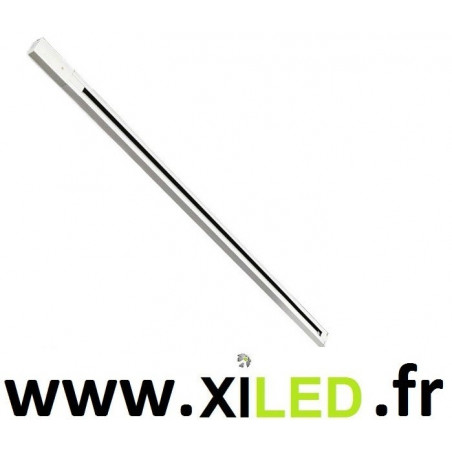 Rail haute tension monophasé blanc 1m-220v-pour luminaires spot projecteur commerce boutique xiled