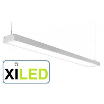 barre aluminium 1m led 5800 lm suspendu luminaire led suspension bureaux salon commerce 50w
