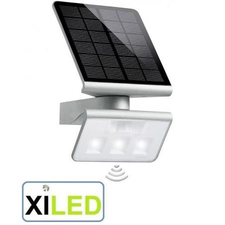 applique Spot solaire avec détecteur de mouvements Steinel 1.2 W blanc froid argent