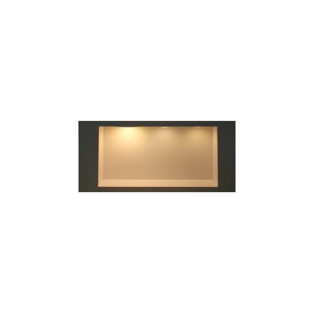 Spot Encastrable 9w led-700 lumens carré aluminium blanc 150mm