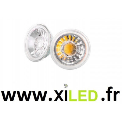 SPOT LED 5W GU10 verre-45°-480 lumens