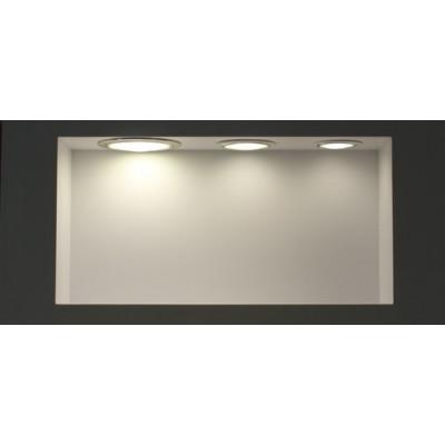 plafonnier led CARRE 6w installation en saillie blanc