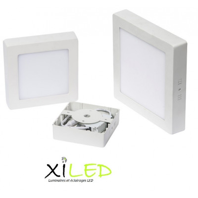 plafonnier carre applique 18w led installation en saillie blanc