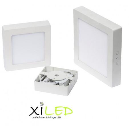plafonnier carre applique 18w led installation en saillie blanc