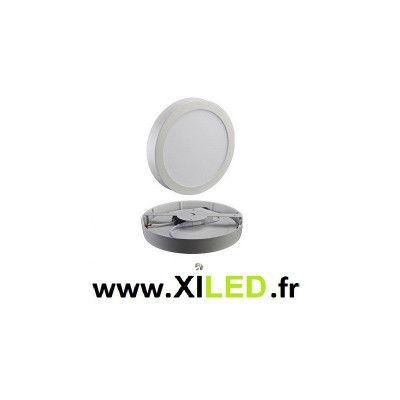 plafonnier rond applique 25w led installation en saillie blanc